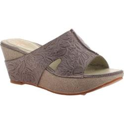 Women's OTBT Hannibal Wedge Sandal Grey Powder Leather