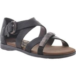 Women's OTBT Pender Sandal Black Snake Leather
