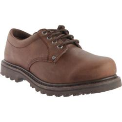 Men's Roadmate Boot Co. 403 4in Oxford Chocolate Brown Crazy Horse Leather