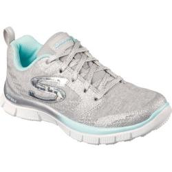 Girls' Skechers Skech Appeal Glimmerama Training Shoe Silver/Aqua