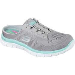 Women's Skechers Flex Appeal Wonderful Life Slip-On Sneaker Gray/Multi