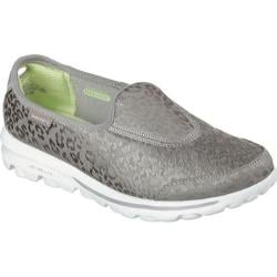 Women's Skechers Go Walk Tabby Slip-On Silver