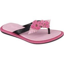 Girls' Skechers Indulge Luxe Crush Thong Sandal Black/Pink