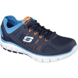 Men's Skechers Relaxed Fit Skech Flex Life Force Training Shoe Navy/Blue