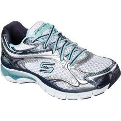 Women's Skechers Relaxed Fit Sport Prize Seeker White/Navy/Light Blue