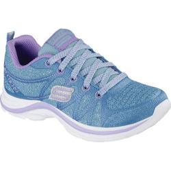 Girls' Skechers Swift Kicks Bling Thing Sneaker Blue/Lavender