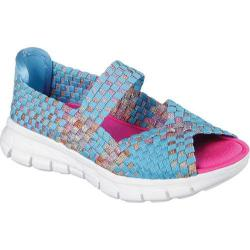 Girls' Skechers Synergy Sunday Stroll Woven Mary Jane Blue/Multi