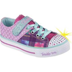 Girls' Skechers Twinkle Toes Shuffles Poplife Kicks Sneaker Purple/Multi