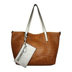 Women's La Diva ZP-297 STL Tote Tan/Light Gold
