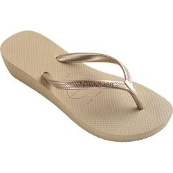 Women's Havaianas High Light Flip Flop Sand Grey/Light Golden