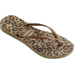 Women's Havaianas Slim Animals Flip Flop Beige
