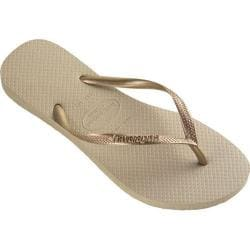 Women's Havaianas Slim Flip Flop Sand Grey/Light Golden