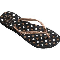 Women's Havaianas Slim Fresh Flip Flop Black/Rose Gold