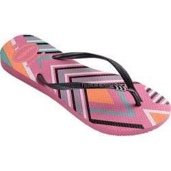 Women's Havaianas Slim Tribal Flip Flop Shocking Pink