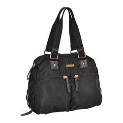 Women's Adrienne Vittadini 18in High Density Nylon Double Handle Satchel Black