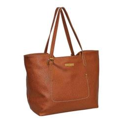 Women's Adrienne Vittadini Pebble Grain East West Tote British Tan