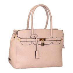 Women's Adrienne Vittadini Pebble Grain Medium Satchel Natural