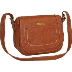 Women's Adrienne Vittadini Pebble Grain Saddle Bag Tan