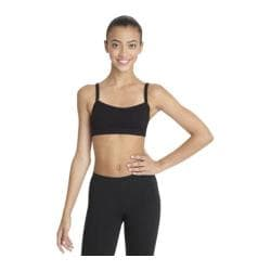 Women's Capezio Dance Bra Top with BraTek Black
