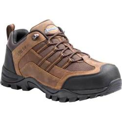 Men's Dickies Rally Steel Toe Lace Up Brown Full Grain Leather/Mesh