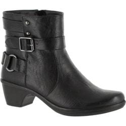 Women's Easy Street Carson Boot Black Polyurethane