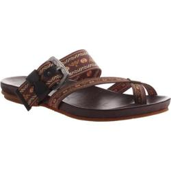 Women's OTBT Cade Sandal Brown Leather Fabric/Leather