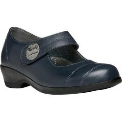 Women's Propet Antonia Mary Jane Navy Full Grain Leather