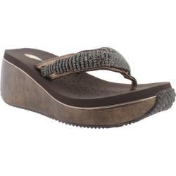 Women's Volatile Fairydust Wedge Sandal Bronze Leather