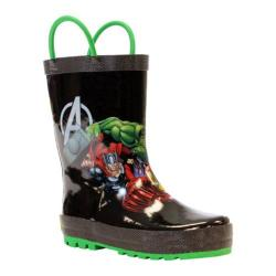 Boys' Western Chief Avengers Force Rain Boot Black