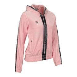Women's Fila U86952 Verona Velour Jacket Rose/Mink