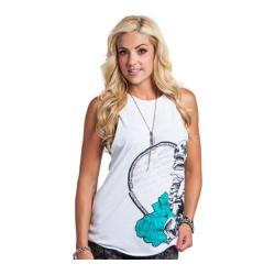 Women's Metal Mulisha Pure Poetry Tank Optic White