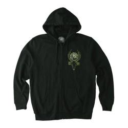 Men's Metal Mulisha Six Point Zip Up Hoodie Black