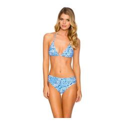 Women's Sunsets Slide Triangle Swim Top Blue Grotto
