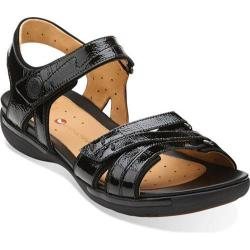 Women's Clarks Un Vasha Black Patent Leather