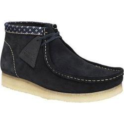 Men's Clarks Wallabee Boot Navy/Multi Suede