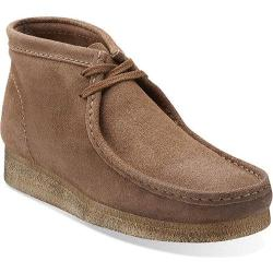 Men's Clarks Wallabee Boot Taupe Distressed Suede