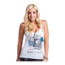 Women's Metal Mulisha Good Girl Bad Habits Tank Optic White