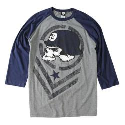 Men's Metal Mulisha Hype Raglan Navy Heather