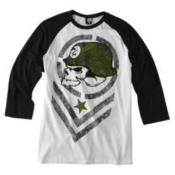 Men's Metal Mulisha Hype Raglan Optic White