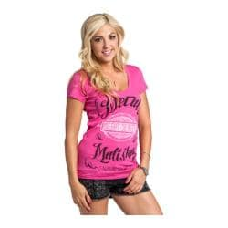 Women's Metal Mulisha Mellow Vneck Tee Hot Pink
