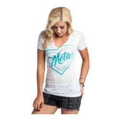 Women's Metal Mulisha Stamped Vneck Tee Optic White