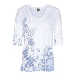 Women's Ojai Clothing Burnout Relaxed Fit Vee Sail Blue Floral
