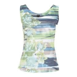 Women's Ojai Clothing Burnout Tank Pool Stripe Floral