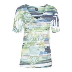 Women's Ojai Clothing Burnout Vee Pool Stripe Floral