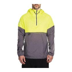 Men's Skechers Downpour Pop-Over Jacket Neon Yellow/Multi