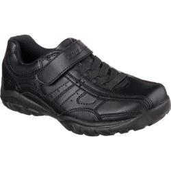 Boys' Skechers Relaxed Fit Grambler Felux Bicycle Toe Shoe Black/Black