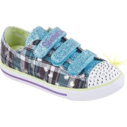 Girls' Skechers Twinkle Toes Chit Chat Prepster Girlz Sneaker Turquoise/Multi