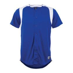 Boys' 3N2 Full-Button Short Sleeve Shirt Royal/White