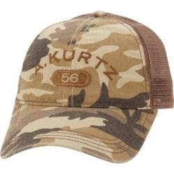 Men's A Kurtz Arc Camo Trucker Hat Tan