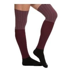 Women's Bootights Ellevator Over-The-Knee Boot Socks Burgundy Heather